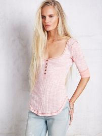 We The Free   Sweetheart Henley in pink at Free People