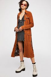 We The Free Larsen Suede Trench at Free People