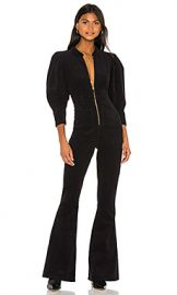 We Wore What 70s Jumpsuit in Black from Revolve com at Revolve