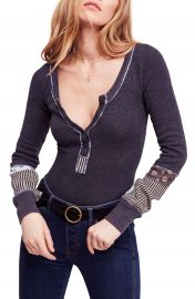 We the Free by Free People Railroad Henley Top   Nordstrom at Nordstrom
