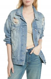 We the Free by Free People Sunday Funday Denim Trucker Jacket   Nordstrom at Nordstrom