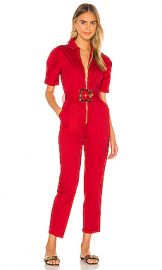 WeWoreWhat Belted Jumpsuit in Red from Revolve com at Revolve
