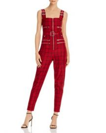 WeWoreWhat Plaid Moto Jumpsuit  Women - Bloomingdale s at Bloomingdales