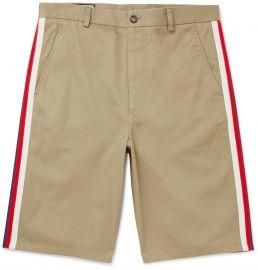 Webbing-Trimmed Cotton-Twill Bermuda Shorts at Mr Porter