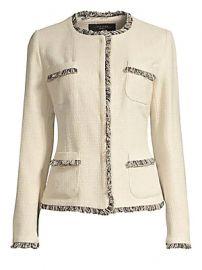 Weekend Max Mara - Edo Tweed Short Jacket at Saks Fifth Avenue