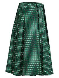Weekend Max Mara - Printed A-Line Midi Skirt at Saks Fifth Avenue