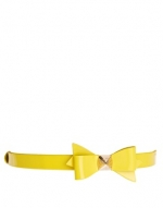 Weldon Patent Bow Belt by Ted Baker at Asos
