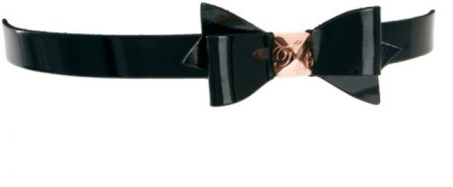 Weldon Patent Bow Belt by Ted Baker in black at Asos