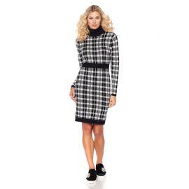 Wendy Williams Plaid Turtleneck Sweater Dress at HSN