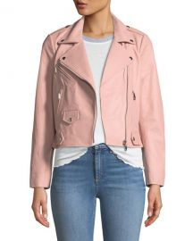 Wes Leather Zip Moto Jacket at Neiman Marcus
