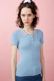 Westerburg Short Sleeve Polo Top by Chloe Sevigny at Opening Ceremony