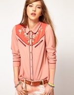 Western shirt by Maison Scotch at Asos