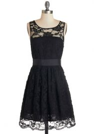When the Night Comes Dress in Noir at ModCloth