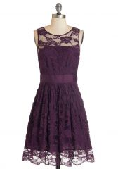 When the Night Comes Dress in Plum at ModCloth