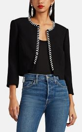 Whipstitched Crepe Neoprene Crop Jacket by Zac Posen at Barneys