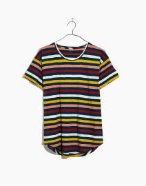 Whisper Cotton Crewneck Tee in Lennie Stripe by Madewell at Madewell