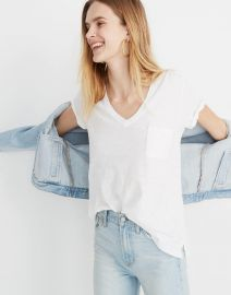 Whisper Cotton Vneck Tee at Madewell