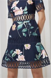 Whisper Dress navy garden floral by Keepsake at Fashion Bunker