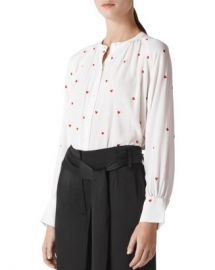 Whistles Embroidered Heart Blouse Women - Bloomingdale s at Bloomingdales