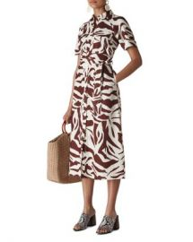Whistles Graphic Zebra Printed Shirt Dress Women - Bloomingdale s at Bloomingdales