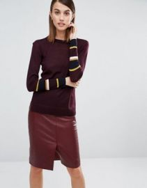 Whistles Hayden Stripe Cuff Sweater at asos com at Asos