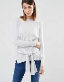Whistles Long Sleeves Sweater with Tie Sleeve Front at asos com at Asos