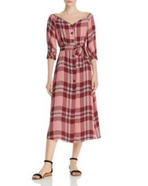 Whistles Off-the-Shoulder Plaid Dress - 100  Exclusive Women - Bloomingdale s at Bloomingdales