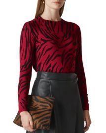 Whistles Tiger-Print Sweater Women - Bloomingdale s at Bloomingdales