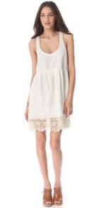 White Free People slip dress at Shopbop