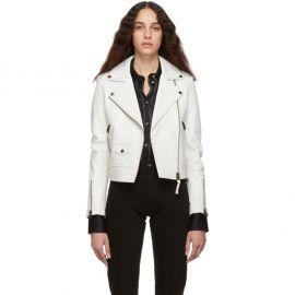 White Leather Baya Jacket at SSense