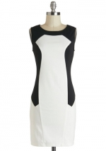 White and black colorblock dress from Modcloth at Modcloth