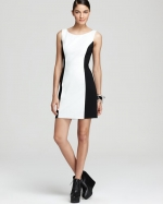 White and black dress from Bloomingdales at Bloomingdales