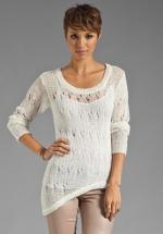 White asymmetric sweater at Revolve at Revolve