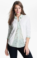 White cardigan like Monas at Nordstrom