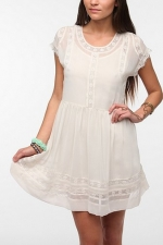 White casual dress from Urban Outfitters at Urban Outfitters