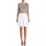 White cotton skirt by Carven at Barneys