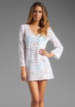 White crochet cover up dress at Revolve
