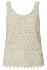 White crochet lace top at Topshop at Topshop