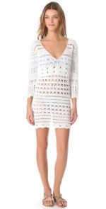 White crochet tunic at Shopbop