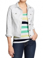 White denim jacket from Old Navy at Oldnavy
