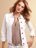 White denim jacket from Victorias Secret at Victorias Secret