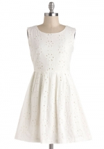 White eyelet dress at Modcloth at Modcloth