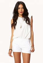 White eyelet shorts at Forever 21