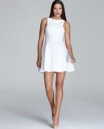 White flared dress at Bloomingdales