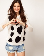 White heart sweater from ASOS at Asos