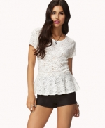 White lace peplum top at Forever 21 at Forever 21