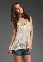 White lace top like Rebekahs at Revolve