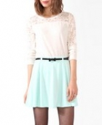 White lace yoke top at Forever 21 at Forever 21