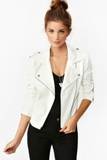 White leather jacket at Nasty Gal at Nasty Gal