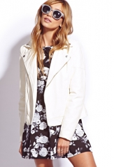 White moto jacket at Forever 21